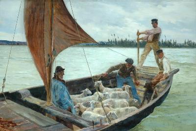 A Breezy Crossing, 1893-William H. Bartlett-Giclee Print