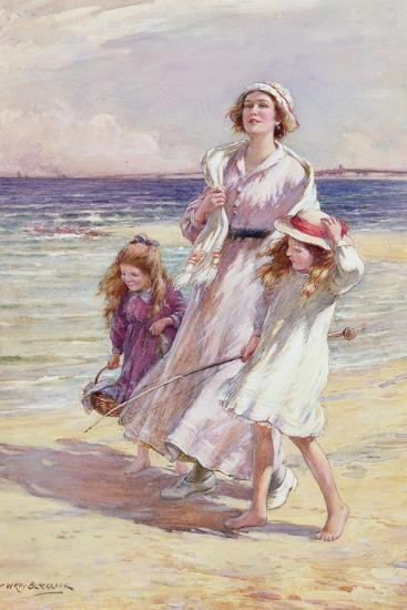 A Breezy Day at the Seaside-William Kay Blacklock-Giclee Print
