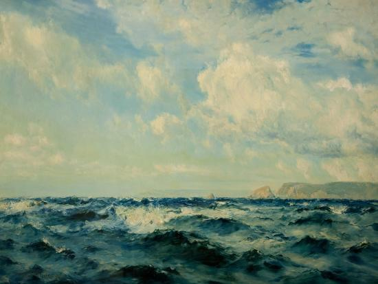 A Breezy Day Off the Isle of Wight, 1890-Henry Moore-Giclee Print