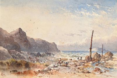 A Breezy Day with Fisherfolk on the Foreshore, 1874-William Cook of Plymouth-Giclee Print