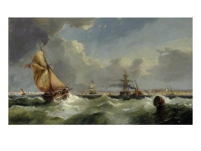 A Breezy Evening on the Mersey-William Callow-Giclee Print