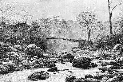 A Bridge over the Rangit, a Tributary of the River Teesta, India, 1895--Giclee Print
