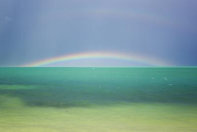 A Brilliant Double Rainbow over the Atlantic Ocean in the Florida Keys-Mike Theiss-Photographic Print