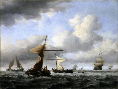 A Brisk Breeze, C.1665-Willem Van De Velde The Younger-Giclee Print