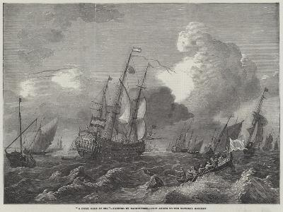 A Brisk Gale at Sea--Giclee Print