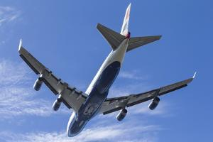 A British Airways Boeing 747 Climbs Out of San Francisco, California