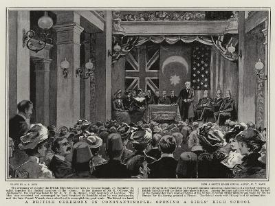 A British Ceremony in Constantinople, Opening a Girls' High School-Alexander Stuart Boyd-Giclee Print
