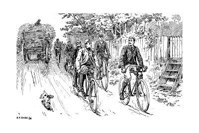 A British Cycle Club Out for a Country Ride, 1895--Giclee Print