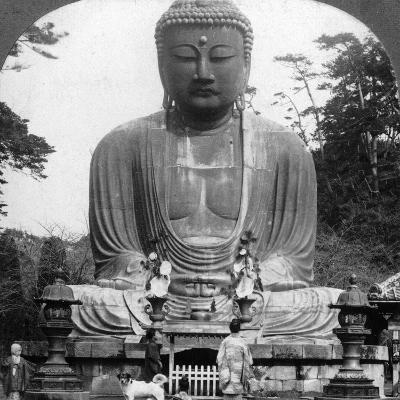 A Bronze Statue of Buddha, Kamakura, Japan, 1900s-BL Singley-Photographic Print