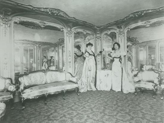 A Brothel in Paris, the Lords Lounge, C. 1900--Photographic Print