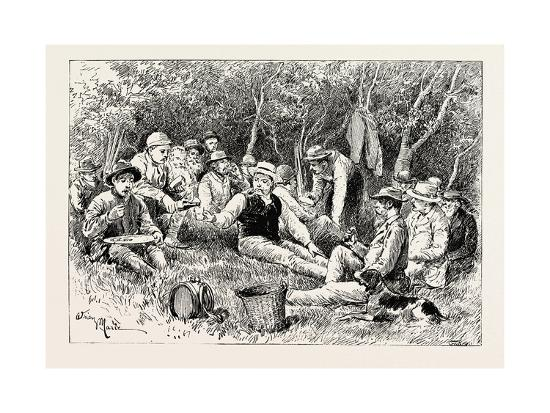 A Buck-Hunting Excursion in South Africa: Tiffin in the Bush--Giclee Print