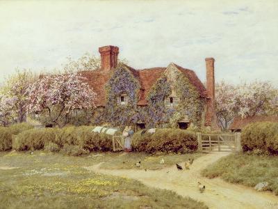 A Buckinghamshire House at Penstreet-Helen Allingham-Giclee Print