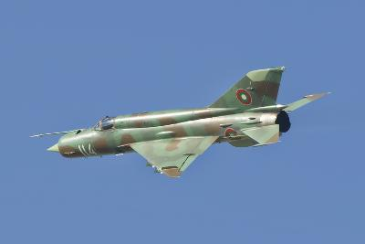 A Bulgarian Air Force Mig-21 in Flight over Bulgaria-Stocktrek Images-Photographic Print