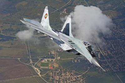 A Bulgarian Air Force Mig-29 in Flight over Bulgaria-Stocktrek Images-Photographic Print