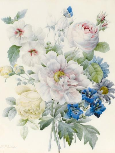 A Bunch of Flowers Including a Peony-Pierre Joseph Redoute-Giclee Print