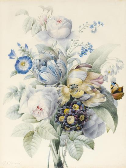 A Bunch of Flowers Including Roses-Pierre Joseph Redoute-Giclee Print