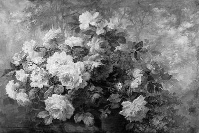 A Bunch of Roses in a Wooded Landscape-Frans Mortelmans-Giclee Print