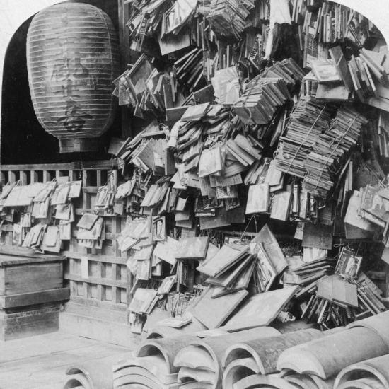 A Bundle of Buddhist Prayers, China, 1896-Underwood & Underwood-Photographic Print