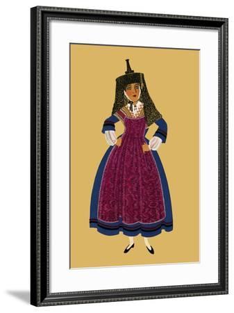 A Burgundian Woman-Elizabeth Whitney Moffat-Framed Art Print