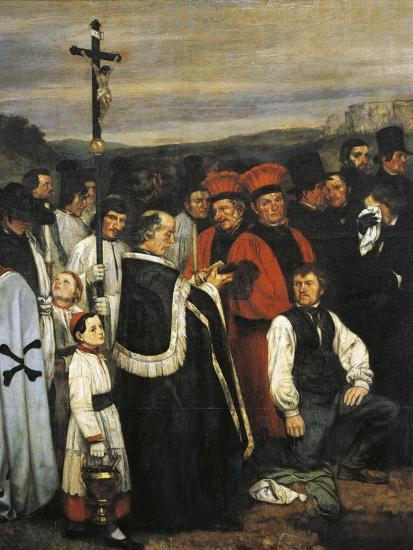 A Burial at Ornans, 1849-1850-Gustave Courbet-Giclee Print