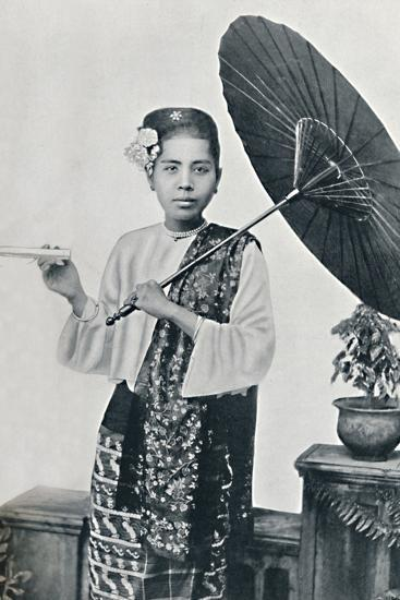 A Burmese lady, 1902-Unknown-Photographic Print