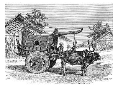 A Burmese Wagon, Burma (Myanma), 1895--Giclee Print