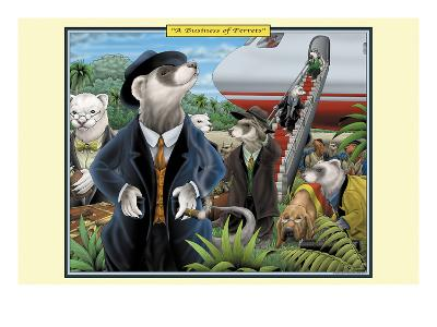 A Business of Ferrets-Richard Kelly-Art Print