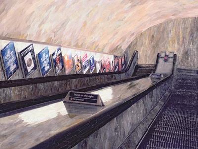 A Busker Somewhere Near, 1999-Ellen Golla-Giclee Print