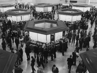 A Busy Scene at the London Stock Exchange--Photographic Print
