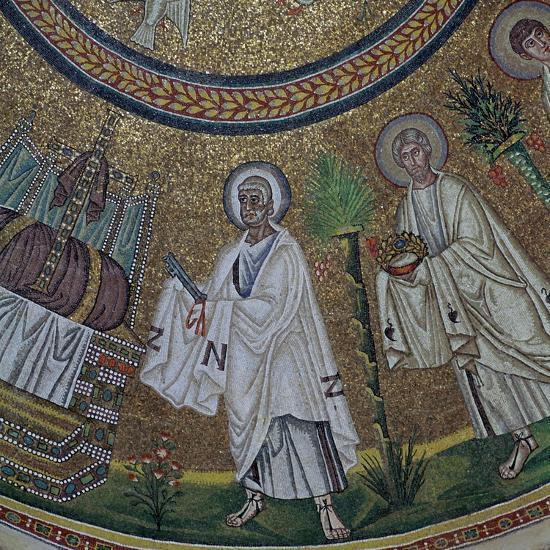 A byzantine mosaic of St Peter, 5th century-Unknown-Giclee Print