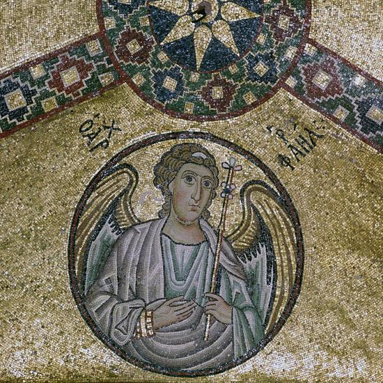 A byzantine mosaic of the Archangel Raphael, 11th century-Unknown-Giclee Print