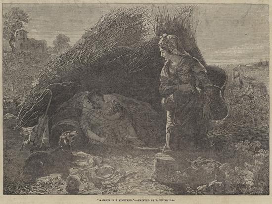 A Cabin in a Vineyard-Thomas Uwins-Giclee Print