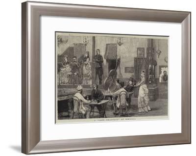 A Cafe Chantant at Ismailia-Joseph Nash-Framed Giclee Print