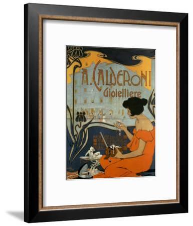 A Calderoni Gioiellerie, c.1898-Adolfo Hohenstein-Framed Art Print