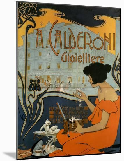 A Calderoni Gioiellerie, c.1898-Adolfo Hohenstein-Mounted Art Print