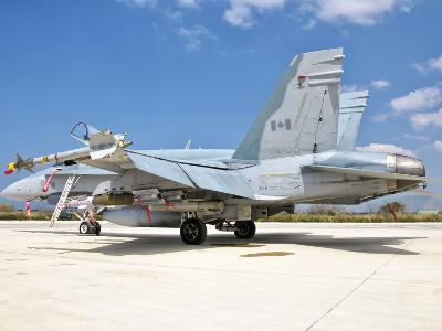 A Canadian Air Force F/A-18 Hornet Armed with Weapons-Stocktrek Images-Photographic Print