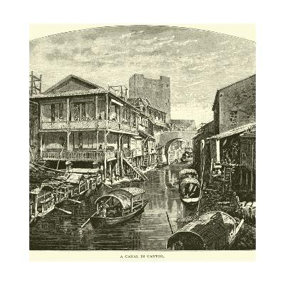 A Canal in Canton--Giclee Print