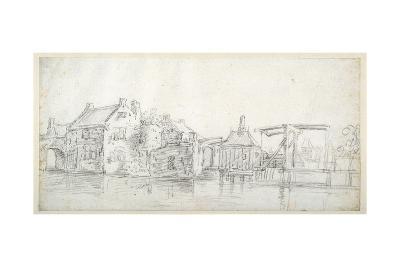 A Canal with Buildings-Jan Van Goyen-Giclee Print