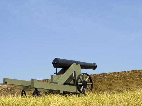 A Cannon at Fort Barrancas, NAS Pensacola Fl.-John Clark-Photographic Print