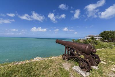 A Cannon Dating from the 17th Century, Fort James, Antigua, Leeward Islands, West Indies-Roberto Moiola-Photographic Print