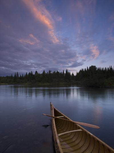 A Canoe on Maine's Allagash River-Michael Melford-Photographic Print