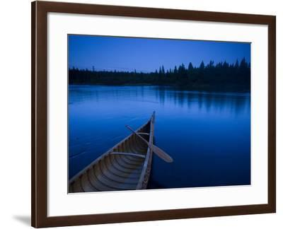 A Canoe on Maine's Allagash River-Michael Melford-Framed Photographic Print