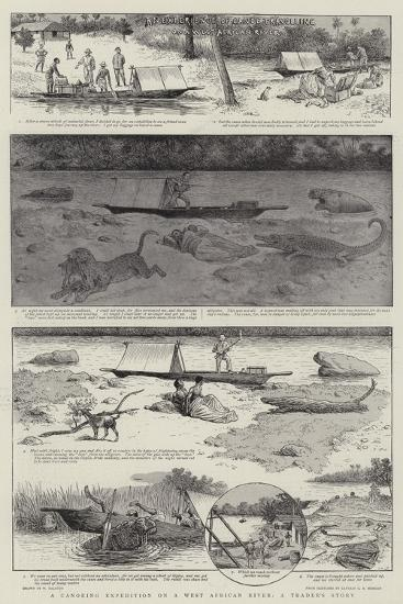 A Canoeing Expedition on a West African River, a Trader's Story-William Ralston-Giclee Print