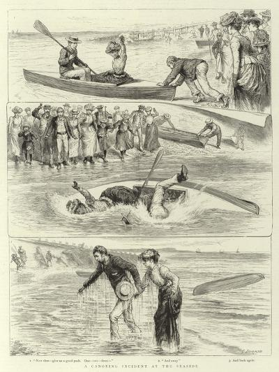 A Canoeing Incident at the Seaside-Godefroy Durand-Giclee Print