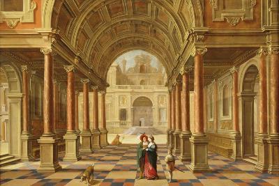 A Capriccio View in the Courtyard of a Classical Mansion, 1628-Bartolomeus Van Bassen-Giclee Print