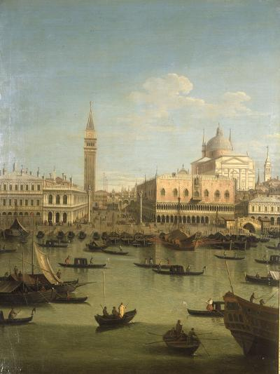 A Capriccio View of the Piazzetta with the Church of Il Redentore-Canaletto-Giclee Print