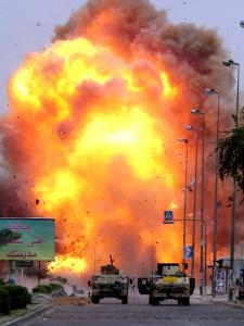 A Car Bomb Explodes