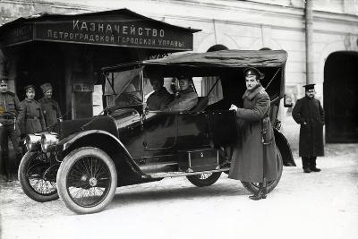 A Car Outside the Treasury of the Petrograd City Council, 1900S--Photographic Print