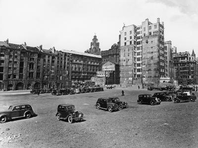 A Car Park, Brunswick Street, Liverpool, May 1946--Photographic Print