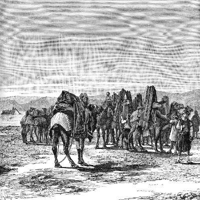 A Caravan on the Banks of the Euphrates, 1895--Giclee Print
